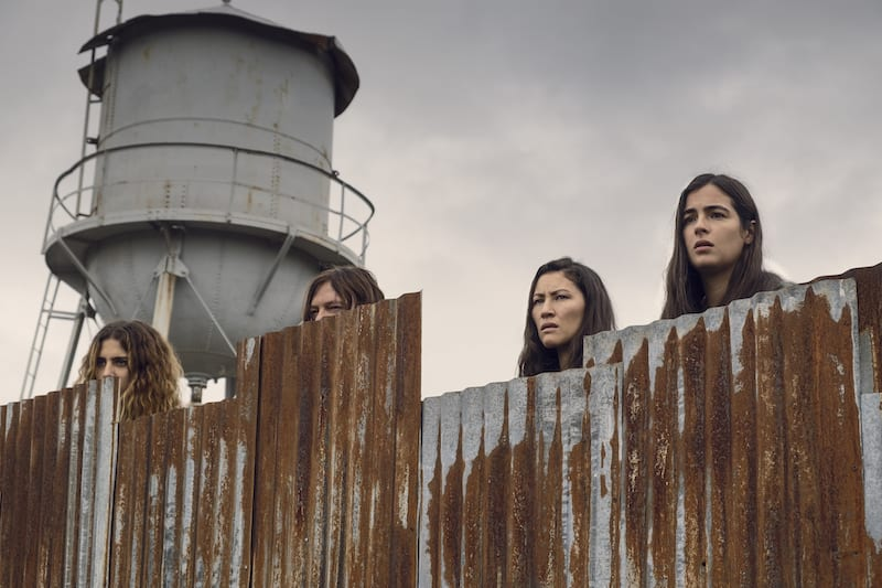 Alanna Masterson as Tara Chambler, Norman Reedus as Daryl Dixon, Nadia Hilker as Magna, Eleanor Matsuura as Yumiko - The Walking Dead _ Season 9, Episode 10 -