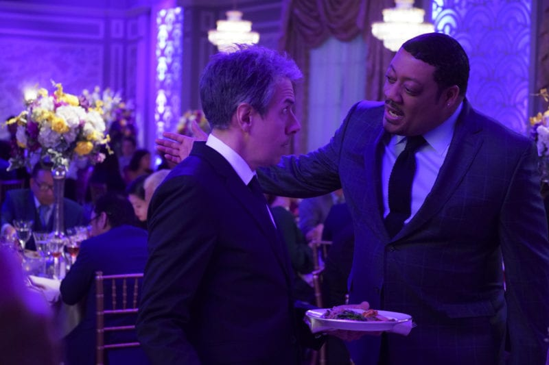 "SPEECHLESS - ""S-E-- SEOUL B-R--BROTHERS"" The ABC Television Network. (ABC/Richard Cartwright) JOHN ROSS BOWIE, CEDRIC YARBROUGH"