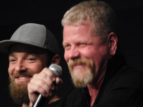 Ross Marquand and Michael Cudlitz at Walker Stalker Con Atlanta 2019 Photo Credit: Tracey Phillipps