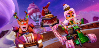 Reindeer Crash, Sweet Coco and Rilla Roo participate in the Winter Festival