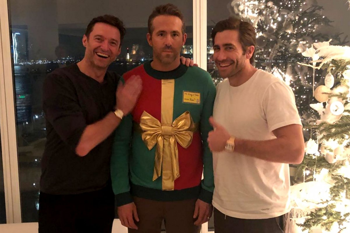 Hugh Jackman & Ryan Reynolds Continue Their Ugly Christmas Sweater Prank Tradition!
