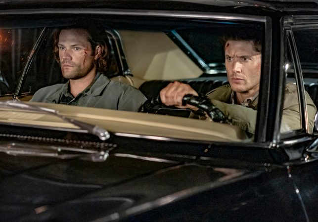 "Supernatural — ""The Trap"" — Image Number: SN1509A_0270bc.jpg — Pictured (L-R): Jared Padalecki as Sam and Jensen Ackles as Dean"